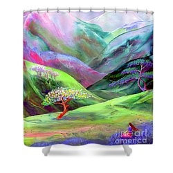 Spirit Of Spring Shower Curtain by Jane Small
