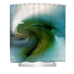Spirit Of The White Dolphin Shower Curtain by Carol Cavalaris