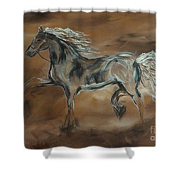 Spirited Shower Curtain by Leslie Allen
