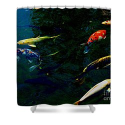 Splash Of Color Shower Curtain by Greg Patzer