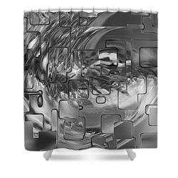 Splash Squared Shower Curtain by Jack Zulli