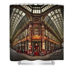 Split Indecision Shower Curtain by Evelina Kremsdorf