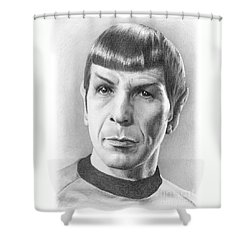 Spock - Fascinating Shower Curtain by Liz Molnar