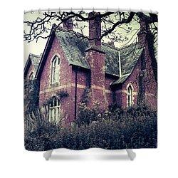 Spooky House Shower Curtain by Joana Kruse