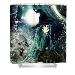 Spooky Night Shower Curtain by Mo T