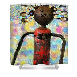 Spoon Woman Shower Curtain by Karon Melillo DeVega