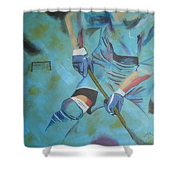 Sports Hockey-2 Shower Curtain by Vitor Fernandes VIFER