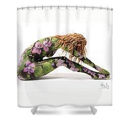 Spring Awakens Sculpture Shower Curtain by Adam Long