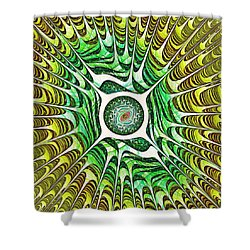 Spring Dragon Eye Shower Curtain by Anastasiya Malakhova