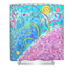 Spring Equinox Shower Curtain by Shawna Rowe