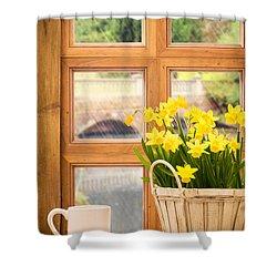 Spring Showers Shower Curtain by Amanda Elwell