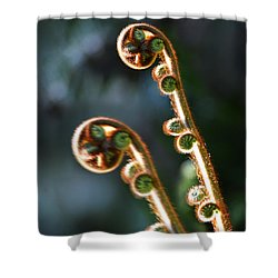 Spring Stanza Shower Curtain by Xueling Zou