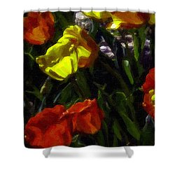 Spring Sunshine Shower Curtain by F Leblanc