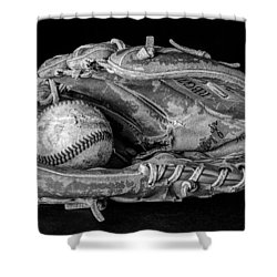 Spring Training Shower Curtain by Jeff Burton