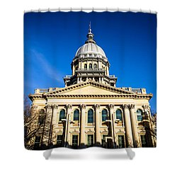 Springfield Illinois State Capitol Building Shower Curtain by Paul Velgos
