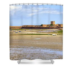 St Aubin's Fort - Jersey Shower Curtain by Joana Kruse