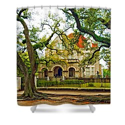 St. Charles Ave. Mansion Paint Shower Curtain by Steve Harrington