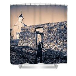 St. Josephs Church Maui Hawaii Shower Curtain by Edward Fielding