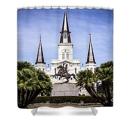 St. Louis Cathedral In New Orleans  Shower Curtain by Paul Velgos
