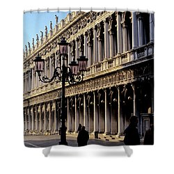 St. Mark's Square Venice Italy Shower Curtain by Ryan Fox