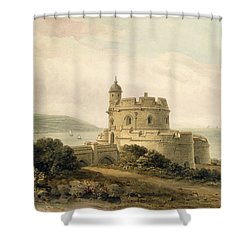 St Mawes Castle Shower Curtain by John Chessell Buckler