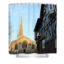 St Michael's Church And Tudor House Southampton Shower Curtain by Terri Waters