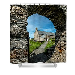 St Patrick Arch Shower Curtain by Adrian Evans