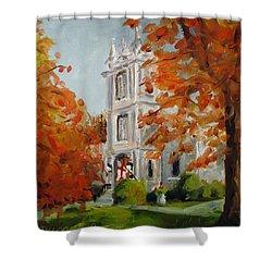 St Peters Episcopal Church Shower Curtain by Susan E Jones