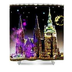 St. Vitus Cathedral Prague Shower Curtain by Daniel Janda