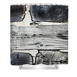 Stacked Block Abstract Shower Curtain by Barbara McMahon