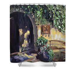 Stags Leap Wine Cellars Tasting Room Shower Curtain by Donna Tuten