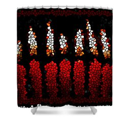 Stained Glass Candle Shower Curtain by Lanjee Chee