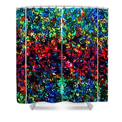 Stained Glass Collage Shower Curtain by Nancy Mueller