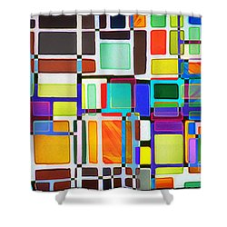 Stained Glass Window Multi-colored Abstract Shower Curtain by Natalie Kinnear