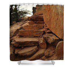 Stairs In The Desert Shower Curtain by Jeff Swan