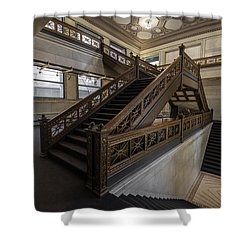 Stairwell Chicago Cultural Center Shower Curtain by Steve Gadomski