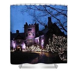 Stan Hywet Hall And Gardens Christmas  Shower Curtain by Joan  Minchak