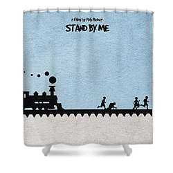 Stand By Me Shower Curtain by Ayse Deniz