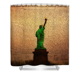 Stand Up For Freedom Shower Curtain by Bill Cannon