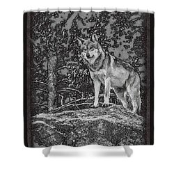 Standing Tall Shower Curtain by Ernie Echols