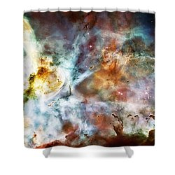 Star Birth In The Carina Nebula  Shower Curtain by Jennifer Rondinelli Reilly - Fine Art Photography
