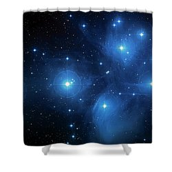 Star Cluster Pleiades Seven Sisters Shower Curtain by The  Vault - Jennifer Rondinelli Reilly
