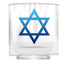 Star Of David Shower Curtain by Aged Pixel