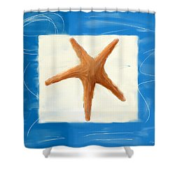 Starfish Galore Shower Curtain by Lourry Legarde