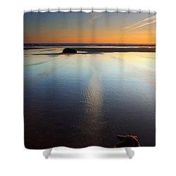 Starfish Sunset Shower Curtain by Mike  Dawson