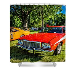 Starsky And Hutch Ford Gran Torino Shower Curtain by Grace Grogan