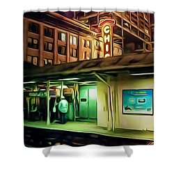State And Lake Shower Curtain by Scott Norris