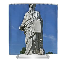 Statue 01 Shower Curtain by Thomas Woolworth