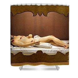 Statue Of Dead Christ Shower Curtain by Gaspar Avila