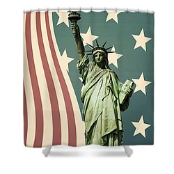 Statue Of Liberty Shower Curtain by Juli Scalzi